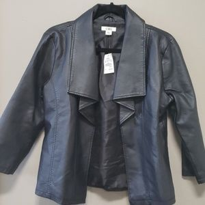 NWT Black Faux Leather Jacket